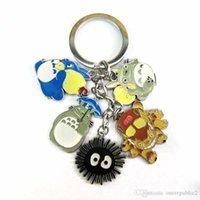 Wholesale 2016 new Anime Cartoon Miyazaki Hayao My Neighbor Totoro Keychains Metal Figures Pendants Key Chains Totoro Model Nice Gift