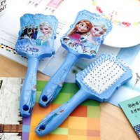 baby brush and comb - 2016 new arrival frozen baby and adult combs frozen Hair Brush Combs frozen massage combs Salon Styling Tamer Tool