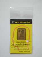 Wholesale K gold zodiac mobile phone anti radiation sticker constellation anti radiation shield Bio Energy Sticker free shiping