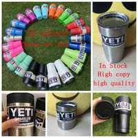 Wholesale 12 colored YETI Rambler Tumbler oz z oz oz Yeti Vacuum Insulated Rambler Colster Insulated Koozie Cup OOA580