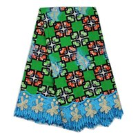 ankara fashion - Cherry Lady Hot sales Embroidery African Wax Lace Fabric Fashion Ankara Fabric With Lace Patchwork Fabric For Wedding Dress