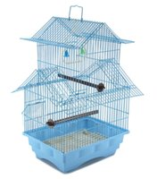 Wholesale Bird Cage House Style BLUE Starter Kit Swing Perch Feeders Two Story