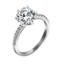 beautiful tension - Christmas gifts HOT sterling Silver fashion charm retro Beautiful Cute pretty crown Diamond Austria Crystal Wedding ring jewelry