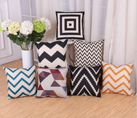 Wholesale Pillow cushion covers modern minimalist black and white striped sofa cushion pillow geometric wave pillow cover