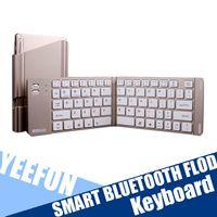 b stock phones - Bluetooth Wireless Keyboard For Tablets Bluetooth Portable Folding Mini Keyboard Support Windows Android IOS Phone Tablet Teclado plegable B