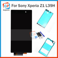 Wholesale For Sony Xperia Z1 L39H L39 C6902 C6903 LCD Screen Display Touch Screen Digitizer Assembly Replace Repair Part free Tools Adhesive Black