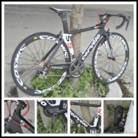 Wholesale Hot Sale Cervelo Carbon Complete Road Bike Clearance DIY Bike With Ultegra Groupset Cosmic white wheelset A03