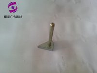 Wholesale With the right angle fixed aluminum word on glue with strong magnetic light side special