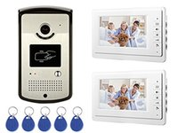 rfid - RFID HID Card Home Wired Video Door Phone Audio Visual Intercom Entry Access System For House Villa Monitors