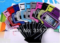 Wholesale 500PCS Universal Sport Running Armband Cover Workout leather Armband Case for iphone SE s Galaxy S3 S4 MINI Protector CASE