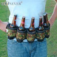 beer belt holster - Six Pack Beer Belt Holster Camo Camouflage Six Bottles Drink Belt Outdoor Beer Waistband Travel Kit