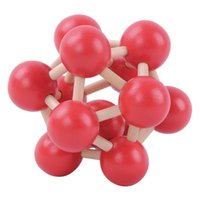 atomic brain - Classical IQ Brain Teaser Puzzle D Atomic Structure Wooden Kong Ming Lu Ban Lock Educational Toys For Kids Children Red