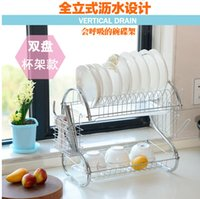 Wholesale Chrome plated Stainless Steel Kitchen Draining Rack Kitchen Utensils Dish Rack Dinner Plates Holder kitchen Drying Accessories
