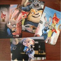 Wholesale 500lot CCA3777 High Quality Zootopia Poster Blessing Postcards Gift Christmas Card Greeting Card Birthday Card Cartoon Postcards