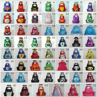 Wholesale 2016 Double Halloween Capes and Mask Cosplay Superhero Sleeveless Capes For Kids stlyes