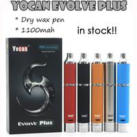 Cheap In Stock !! Authentic Yocan Evolve PLUS Kit 1100mAh Evolve Vaporizer Dry Wax Vaporizer Pen Yocan Evolve D Kit QuartzDual Coil E Cigarettes