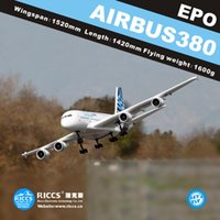 airplane rc airbus - A380 CH RC airplanes aircraft model A380 airbus remote control electric model EPO