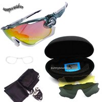 Wholesale Outdoor Sports Fashion Cycling Sunglasses Tactical Glasses Three Lens Changeable Sunglass Fashion Cycling Polarized Sports Glasses