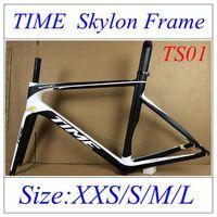 Wholesale TIME Skylon Carbon Road Frames White Black Bicycle Frames K Weave With Bottom BB30 BB68 Carbon Road Bike Frame Glossy Matt Finish