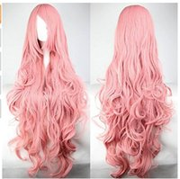 Wholesale 27 quot inch cm Synthetic Cosplay Wig Anime K Project Neko Hair Wigs Long Wavy Layered Magenta Shade Pink Gradient