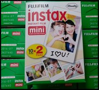 Wholesale 2016 Fuji Fujifilm Instax Film White Edge Photo Papers For Mini Polaroid s Share SP Instant Camera box DHL Free