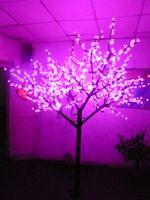 artificial peach tree - Christmas Holiday wedding LED peach Blossom Tree Light LED Bulbs m Height VAC Pink Rainproof