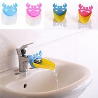 Wholesale 1Pc Faucet Extender Crab Shape Bathroom Sink For Children Kid Washing Hands E00044 BAR