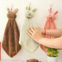 baby washcloths new - High Quality Baby Towel New Cute rabbit Baby Hand Towel Soft Children s Cartoon Animal Hanging Wipe Bath Face