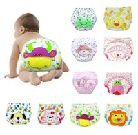 Wholesale Cute Baby Cotton Training Pants Baby Reusable Diapers Cloth Diaper Washable Infants Nappies Diapers