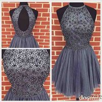 semi formal dress - New Arrival Elegant Beaded Purple Gray Homecoming Dress Short Party cocktail Gowns th grade semi formal Dresses