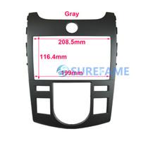 Wholesale car audio frame Double Din Car Audio Frame for KIA Forte Cerato Auto door Stereo Fascia GPS Panel Dash Trim Kit