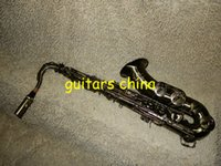 Wholesale NEW woodwind Black Nickel Tenor Saxophone with case Musical instruments