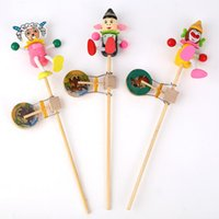Wholesale stall sugar treasure peacock rattle drum monkey puppet animal spring flowers into animal shook Gu