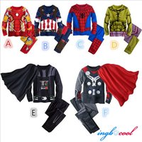 Wholesale New Spider Man Children Clothing Sets Boys Spiderman Cosplay Sport Suit Kids Sets jacket pants Boys Clothes pajama sets
