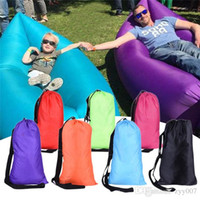 Wholesale Hot Camping Sleeping Bags Fast Inflatable Sofa Portable Hiking Bed Banana Sleep Bag Beach Outdoor Laying Air Beds Chairs
