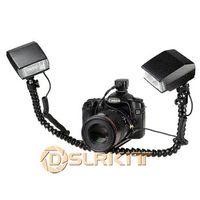 Cheap Macro Shooting Dual-arm Bracket and Mini Flash Pc sync Set for Nikon set top box pc