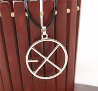 american group - 2016 The new hot fashion Japan and South Korea star EXO group for contract alloy circular pendant necklace ZJ
