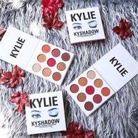 Wholesale Kylie Jenner Pressed Powder Eyeshadow Color New Kyshadow Burgundy Eye Shadow Palette DHL