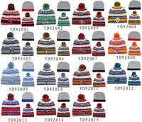 best quality hats - New Beanies All Teams Pom Pom Beanies Team Hat Winter Caps Popular Beanie Caps Skull Caps Best Quality Sports Caps Allow Mix Order