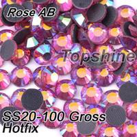 Wholesale Bulk Packing Gross SS20 Glass Material Rose AB DMC Hotfix Rhinestones For Garment Accessories