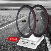 Wholesale Bike Wheel mm Clincher Rim Spokes Hub Quick Release Lever Skewers Brake Pad Full Carbon Matt C Road Bike Bicycle Wheelsets