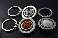 basketball water bottles - Creative men s Sports Basketball World Cup golf ball key chain Mini Key chain pendant