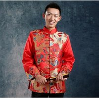 ancient chinese clothing men - dragon embroidery traditional chinese jacket men chinese traditional men clothing costume ancient chinese clothing
