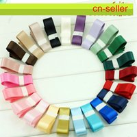 Wholesale 16mm Double Faced Satin Ribbon Colours DIY manual butterfly accessories wedding decorate COLORS available