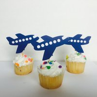 airplane travel food - Airplane Travel the world First boy birthday Glitter cupcake Toppers wedding party Bridal shower Baby Shower food picks