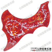 Wholesale Red background hummingbird flower acoustic guitar backplate folk guitar guard faceplate