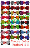 Wholesale New Bow Tie Fashion Male Bow Ties for Men Married Groom Color Block Decoration Butterfly Block Color Bow Cravat Bowknot