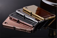 aqua frame - phone case for Sony Xperia X Z2 Z3 Z4 Z5 M4 M5 Aqua Dual Z1 Z2 with Gold Aluminum Frame Mirror Acrylic Back Cover Case Plating
