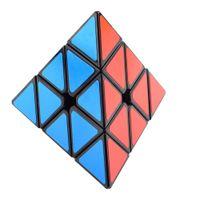 Wholesale Cyclone Boys Mugua Pyramid Pyraminx x3x3 Magic Cube Speed Puzzle Cubes Educational Toys For Kids Children Black
