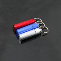 best family camping - Top Quality Waterproof Aluminum Medicine Pill Box Case Bottle Cache Holder Keychain Container Multicolor Best Price